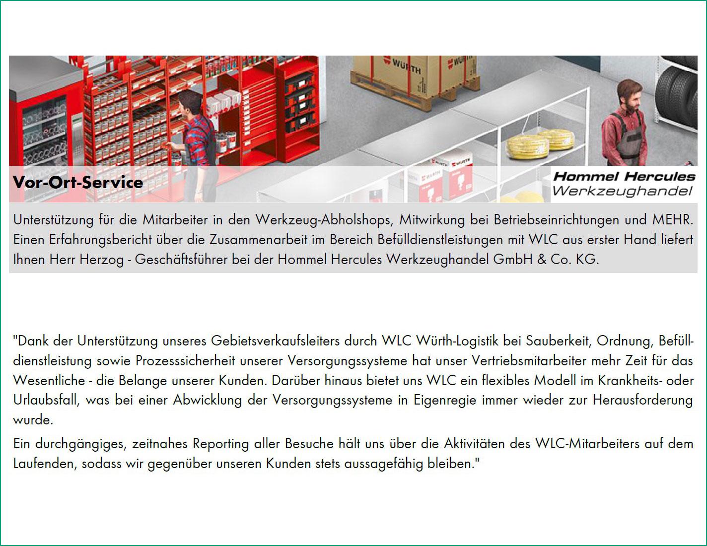 Vor-Ort-Service von Hommel Hercules Werkzeughandel GmbH & Co. KG